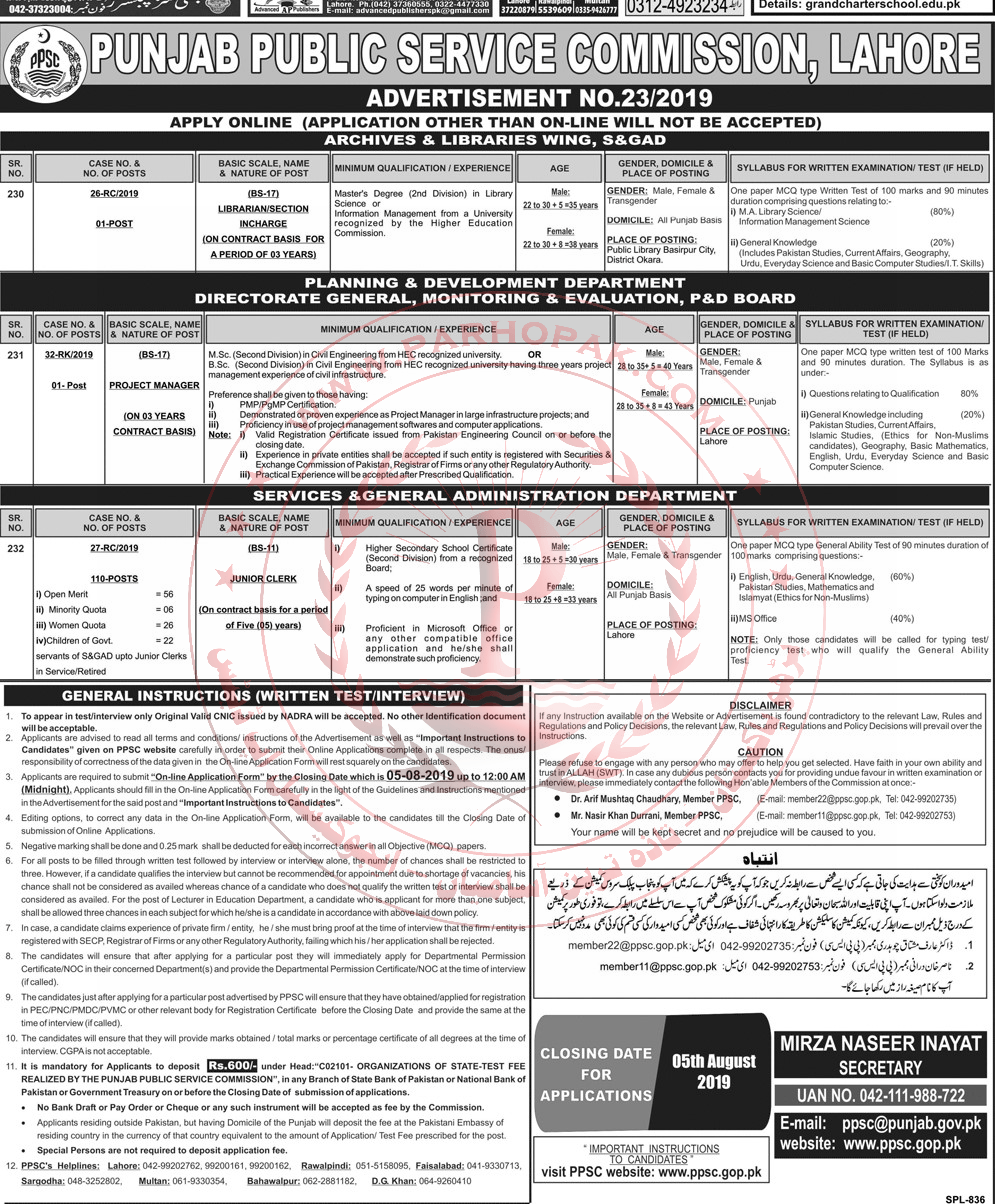 432 Sub Inspector Punjab Police Jobs 2019 By Ppsc Css Forums