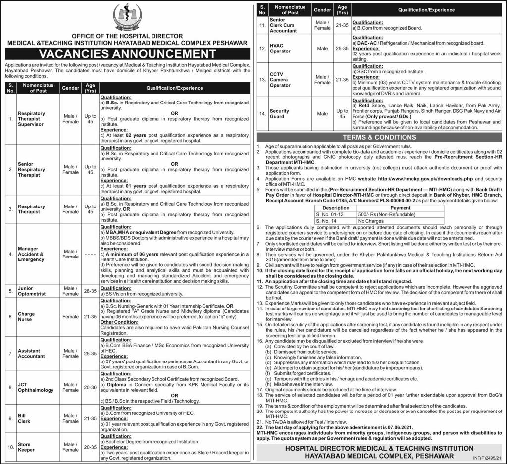 Peshawar Jobs 2021